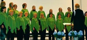 Jyväskylän Naislaulajat 60-vuotiskonsertin vihreällä puoliskolla