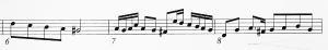 Kolme tahtia kakkosviulua Händelin sävelmästä Riemuitse tytär Siionin